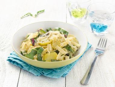 Bandnudeln mit Mangold - Rezept - Einfach köstlich und superschnell zubereitet. Das Rezept gibt es auf www.ichkoche.at