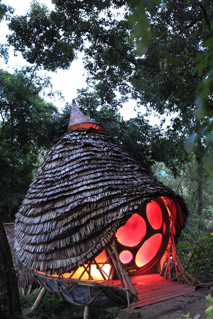 """LOL! I love unusual structures and natural building styles, but this on looks like someone said, """"Hey, let's live inside a lava lamp..."""""""