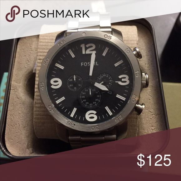 Nate- Men's Fossil Watch Great big face watch. Sporty look Fossil Accessories Watches