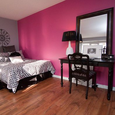 Cinza - rosa na parede..