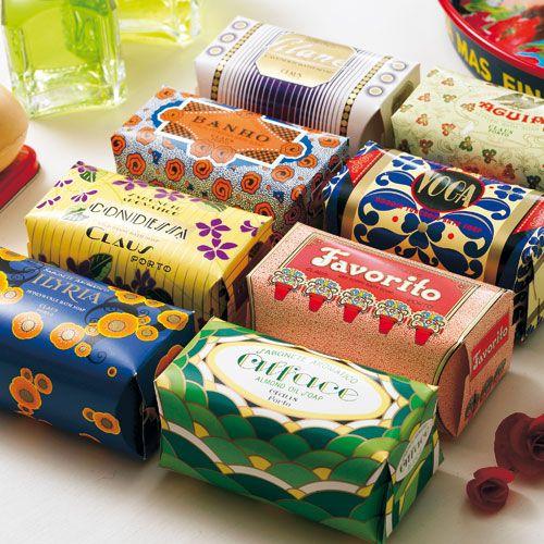 Claus Porto bath soaps. wesome colors. PD