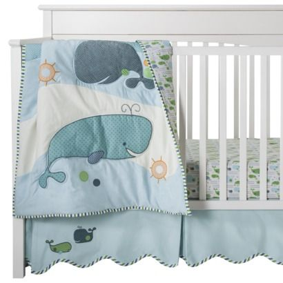 Migi Migi Little Whale 3 Pc Crib Set Cutest Bedding Set