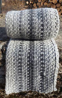 Super fast scarf made using Granite Stitch (crochet)                                                                                                                                                                                 More