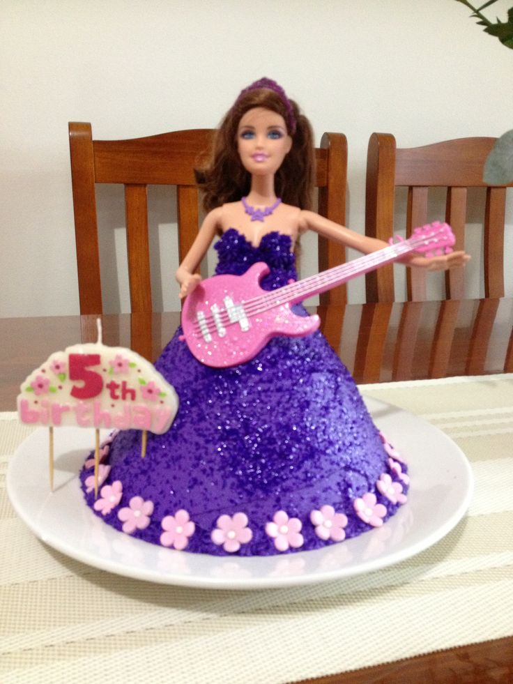 Best Kinley Party Images On Pinterest Barbie Party Rock Star - Birthday cake doll princess