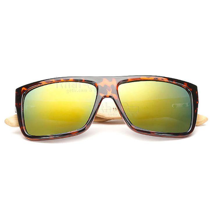 UV400 Korumalı, Gerçek Ahşap Güneş Gözlükleri - IGD090613426 - Vintage Güneş Gözlükleri, Ayna Camlı Güneş Gözlükleri, Bambu Güneş Gözlükleri