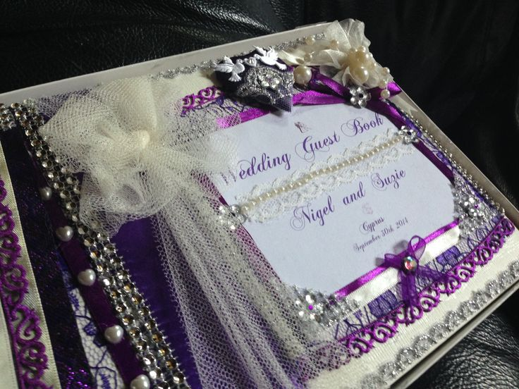 Plain book to wedding guest book