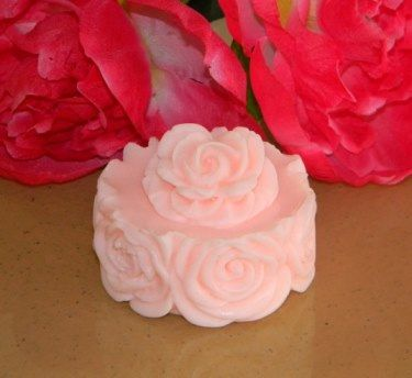 So lovely and detailed!  Pure glycerin soap.  Love the roses!