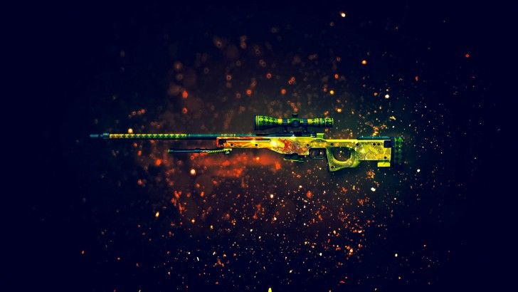 Download AWP Dragon Lore Sniper Rifle Counter Strike Global Offensive Weapon Skin 1920x1200