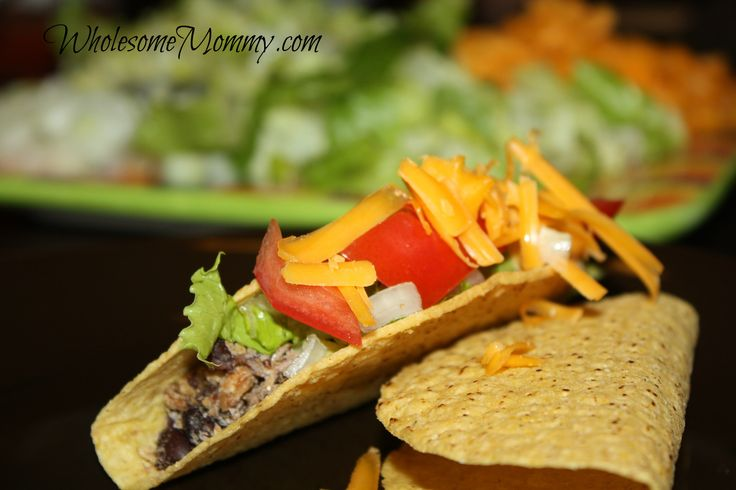 Meatless Taco Meat - made from black beans and SOOO good!