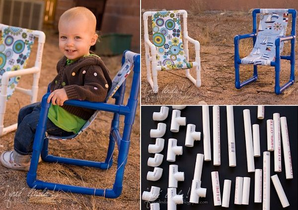 PVC Toddler Chairs!  Clever!! 30+ Creative Uses of PVC Pipes in Your Home and Garden 6