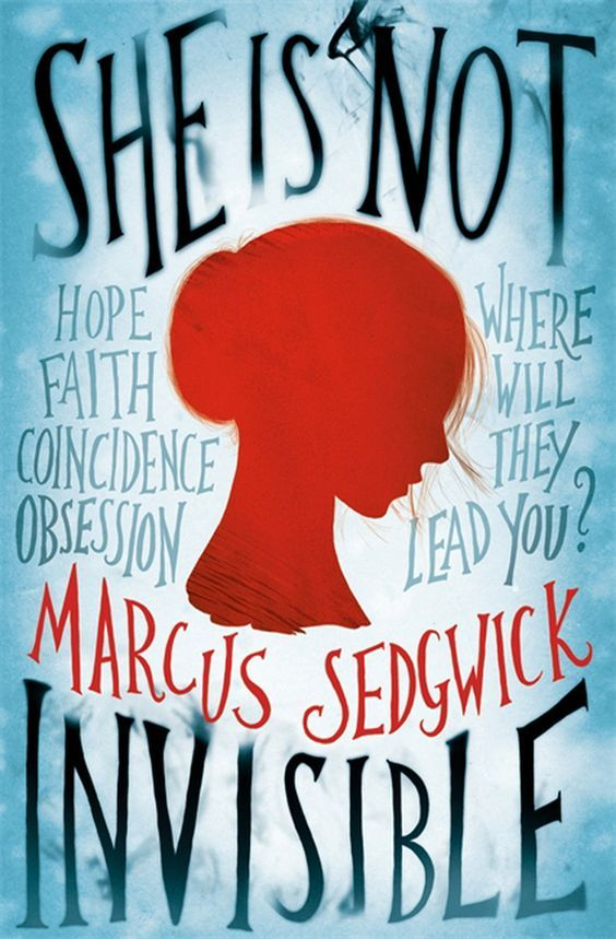 """""""She is not invisible"""", by Marcus Sedgwick - Laureth Peak's father is a writer. For years he's been trying, to write a novel about coincidence. His wife thinks he's obsessed,  He's supposed to be doing research in Austria, so when his notebook shows up in New York, Laureth knows something is wrong. On impulse she steals her mother's credit card and heads for the States. Ahead lie challenges and threats, all of which are that much tougher for Laureth . because she is blind."""