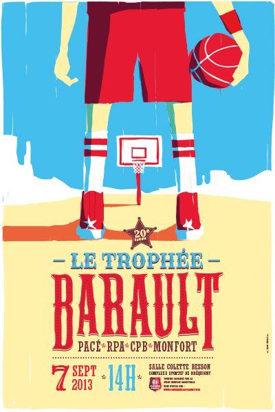 Affiche en illustration pour un tournoi de basketball