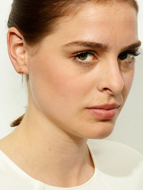 TURINA PIX1.2G earstuds from casted silver (925), gold-plated. 85 EUR via www.turinajewellery.com
