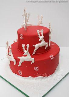 Christmas Reindeer Cake   Sugar Sweet Cakes and Treats