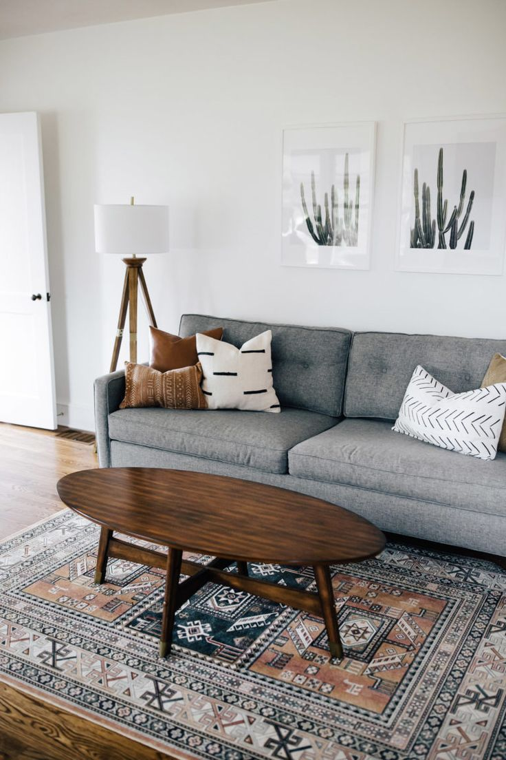 A Mixture Of Mid Century Fashionable Bohemian And Industrial Inside Home Living Room Living Room Designs Living Room Decor