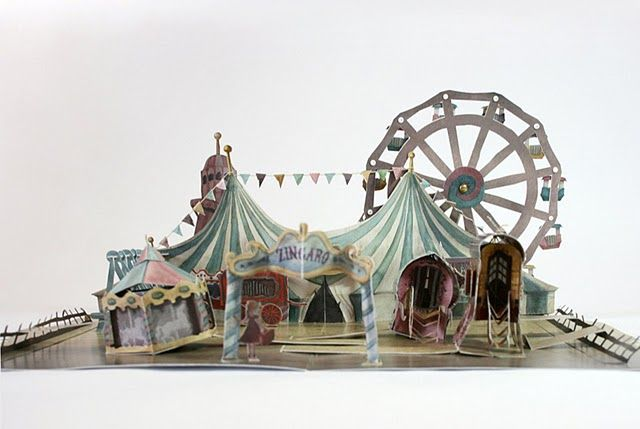 Tina Kraus pop up book. If you go to the link you can watch a video on this AMAZING book!  WOW!