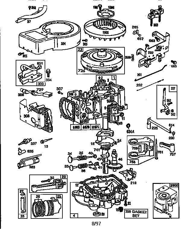 48 best lawn mower images on pinterest grass cutter, lawn mower lawn mower change oil briggs & stratton engine briggs and stratton parts model 289707018601 sears partsdirect