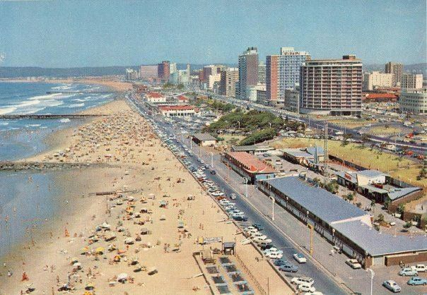 Durban - late 70s ? Trampolines still on beach before being washed away by high tides.