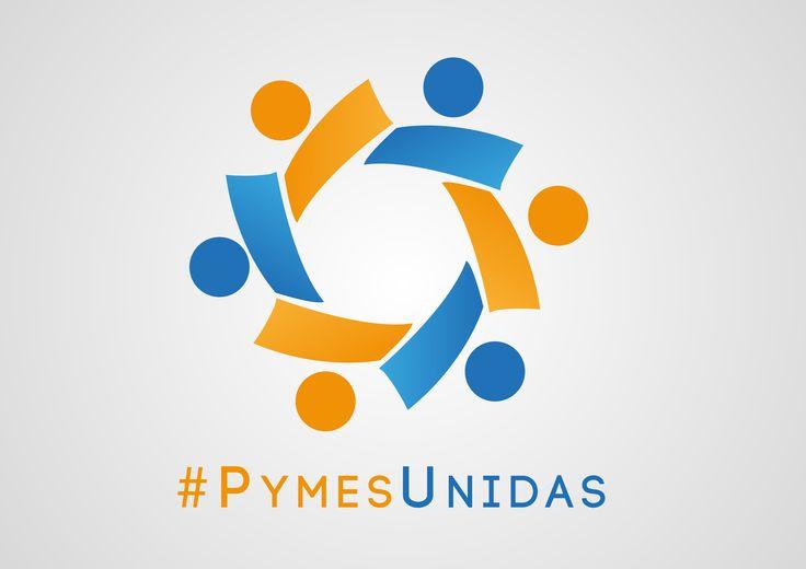 Diseño logotipo empresa #PymesUnidas. Realizado por NeoAttack