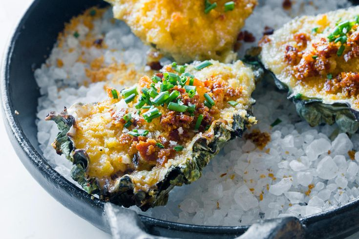 A classic baked oyster recipe from San Francisco chef Jennifer Puccio.
