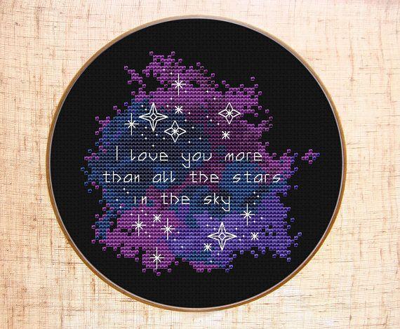 Love Cross Stitch Star Wars Cross Stitch Patterns PDF DIY Gift For Him Heart Cross Stitch Charts Cute Death Star Cross Stitch I Love You