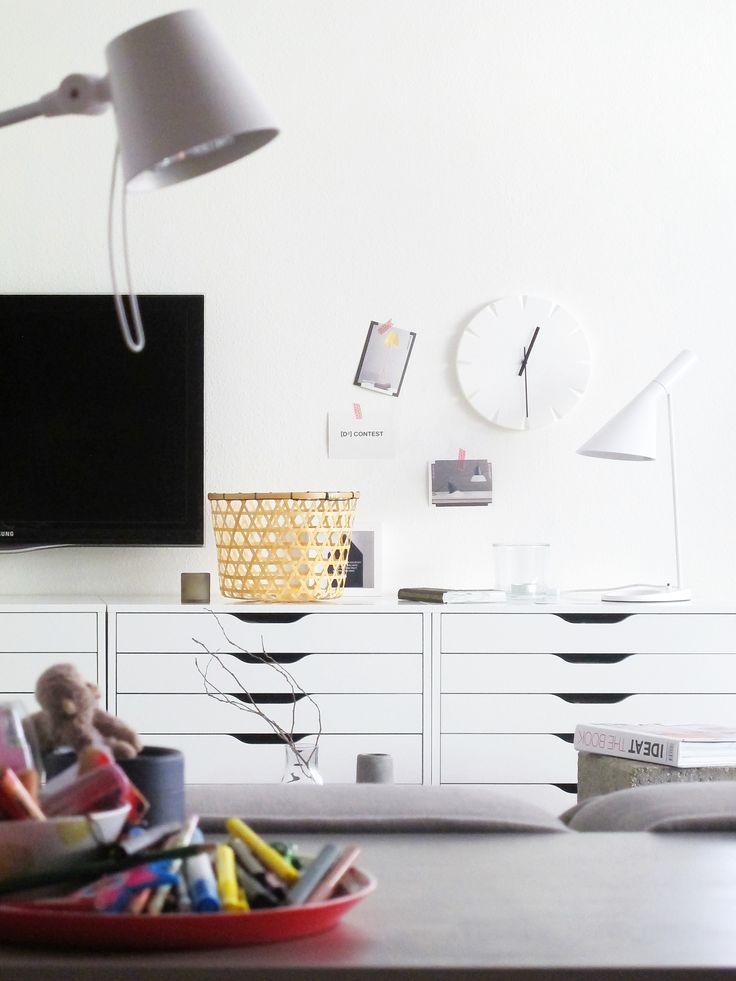 Ikea Alex-Schränke als Sideboard