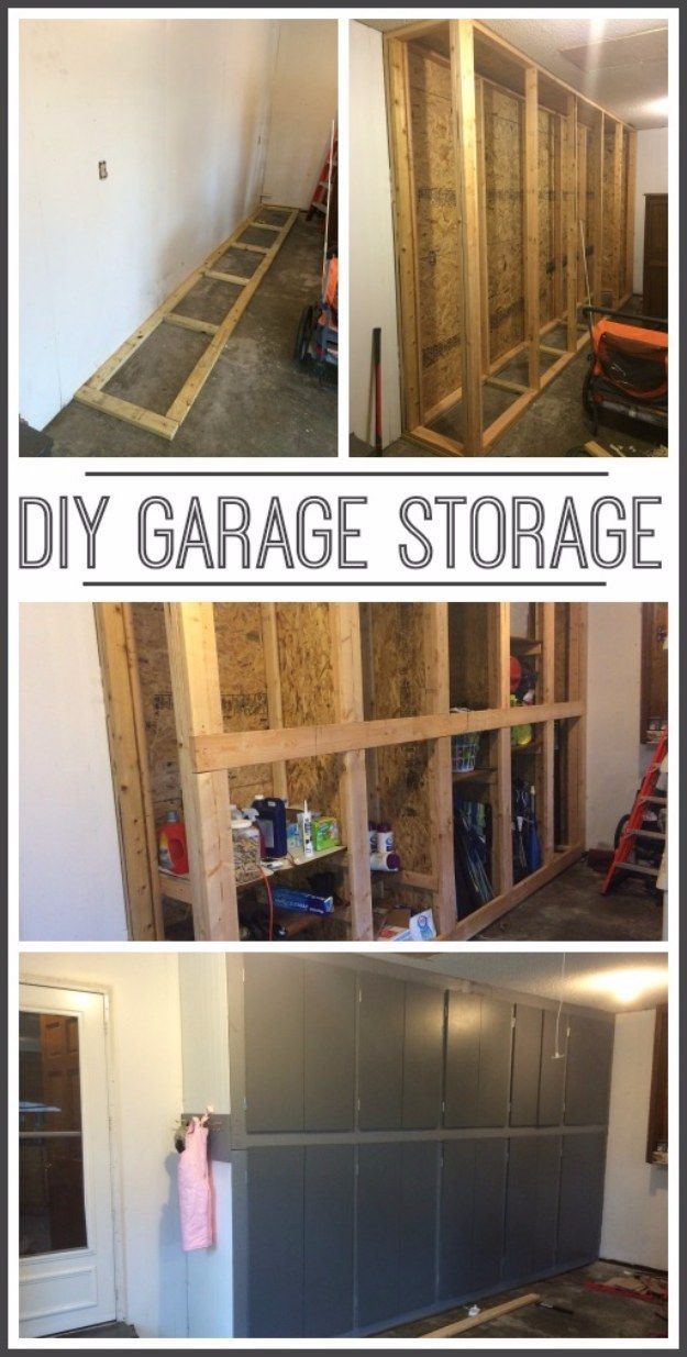 DIY Projects Your Garage Needs -DIY Garage Storage Cabinets - Do It Yourself Garage Makeover Ideas Include Storage, Organization, Shelves, and Project Plans for Cool New Garage Decor http://diyjoy.com/diy-projects-garage