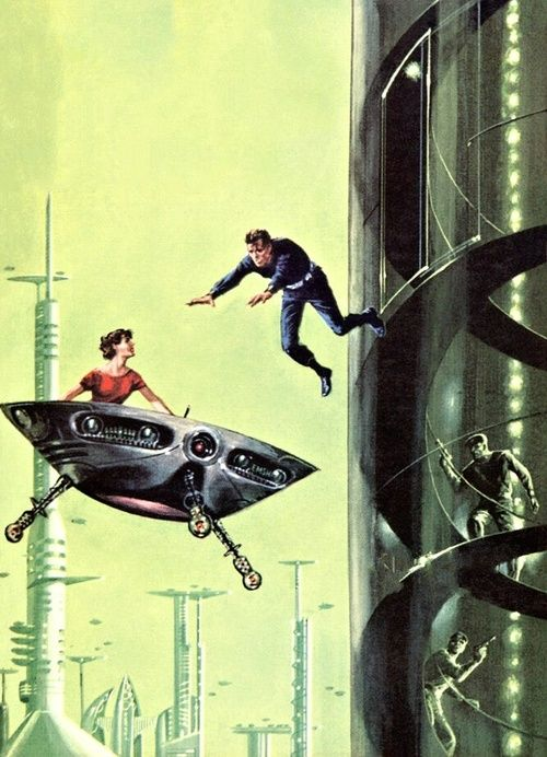Ed Emshwiller - One Against Herculum, 1959. The Science Fiction Gallery