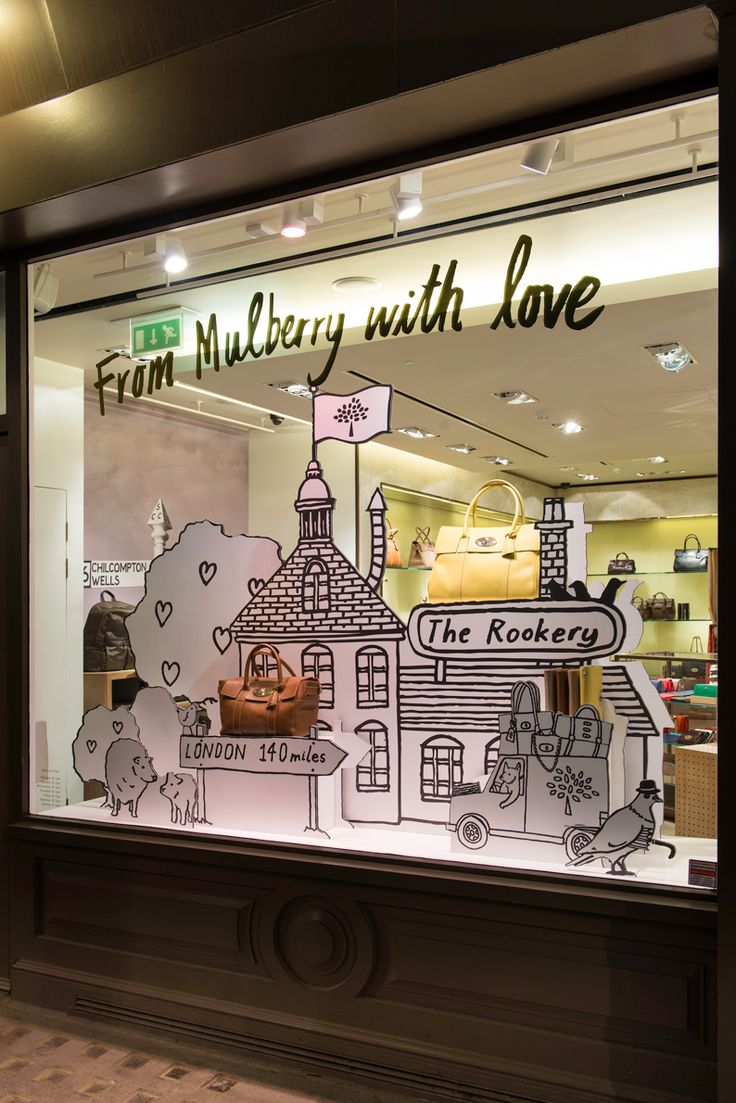 MULBERRY Spring/Summer 2015 Window Display | 'From Mulberry With Love' by #MillingtonAssociates