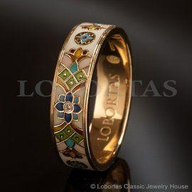 «Цветы от Василевса»золото, бриллианты, эмаль
