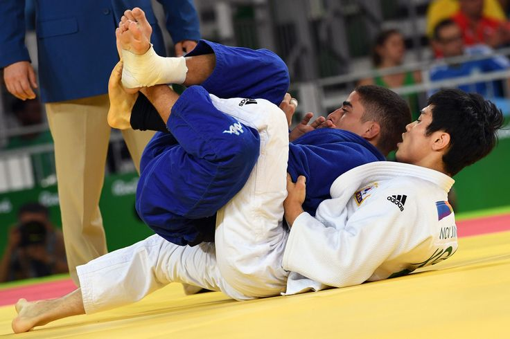DAY 1:  Men's Judo - Elios Manzi of Italy vs Kim Won Jin of Korea