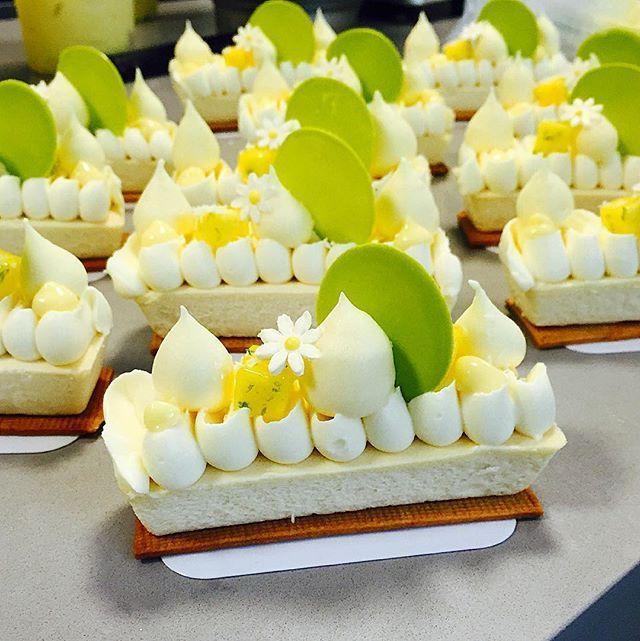 new dessert at @bachour_bb créme fraiche cheesecake with coconut cream , passion fruit foam , piña colada cremeux #bachour #bachoursimplybeautiful @pavonitalia mold