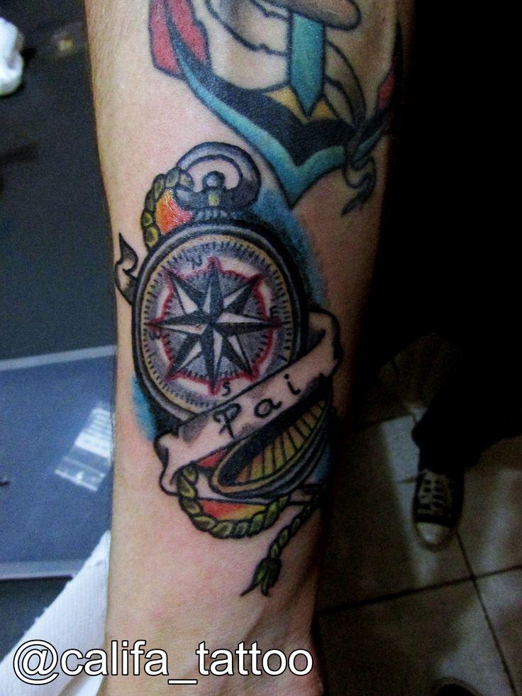 As 25 melhores ideias sobre tatuagem bussola no pinterest for Tatoo bussola