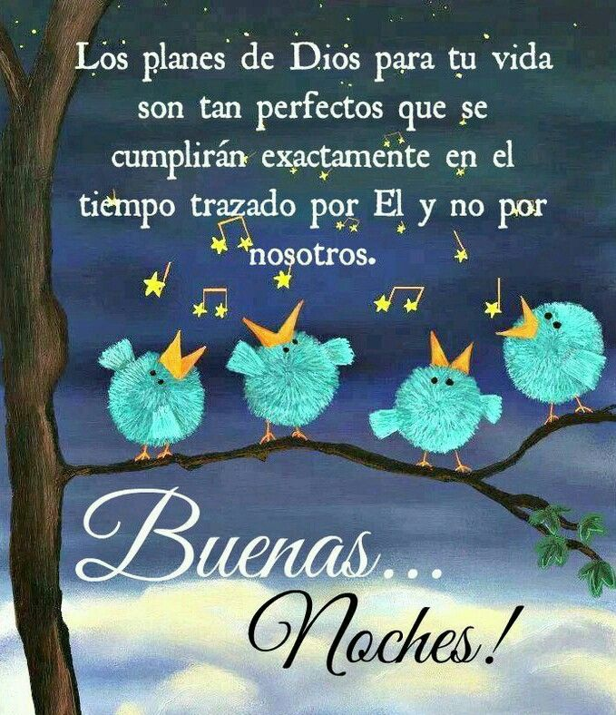 Los planes de Dios... Buenas noches!