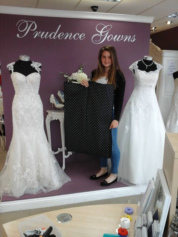 Tilly found her #promdress for her #prom in our #Plymouth store today. YAY! #DressingYourDreams #PrudenceGowns