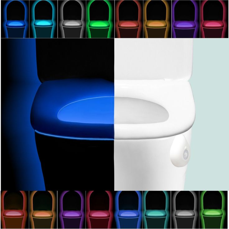 Toilet Bowl Night Light,Activated by Motion Sensor and Darkness LED Bathroom Light Splash Proof by Ian's Choice (Multi-Colored 1 Set)
