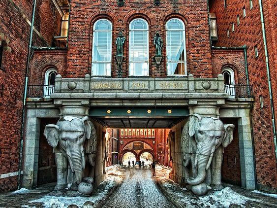 La birreria Carlsberg a Copenaghen