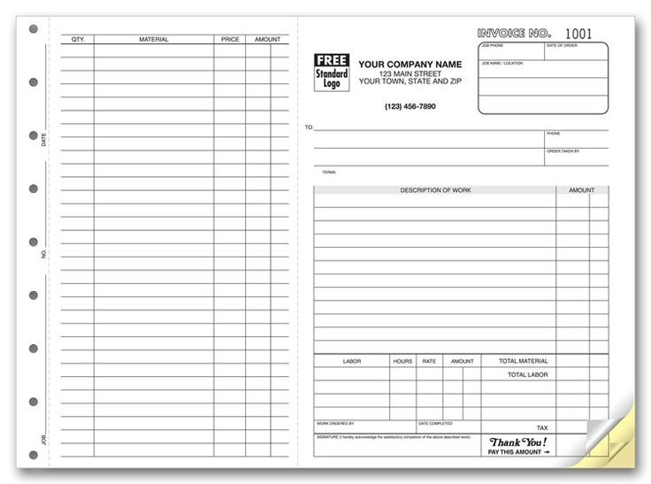 printable work order forms