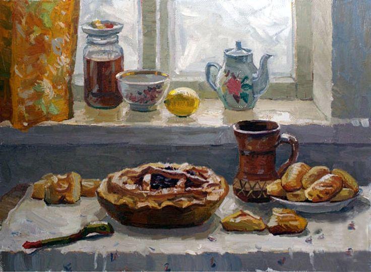 Пирожки в картинках маслом