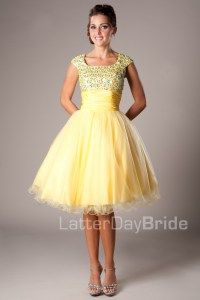 Modest Prom Dresses : Avalynn -Mormon LDS Prom Dress