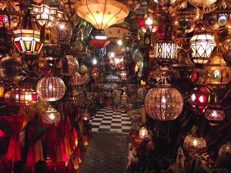 Moroccan lantern souk