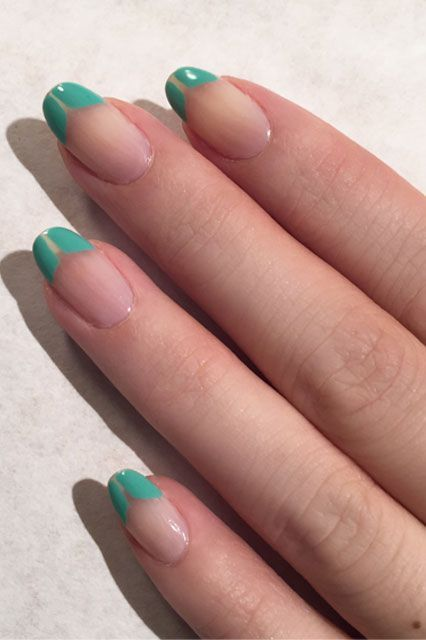 11 Photos That Prove Nail Art Is Cool Again #refinery29  http://www.refinery29.com/nail-art-trend-fashion-week-spring-2015#slide-4  Tibi's negative-space French manicure seems like something we can definitely do at home. (The gorgeous aqua shade is part of Jin Soon's spring 2016 collection.)...
