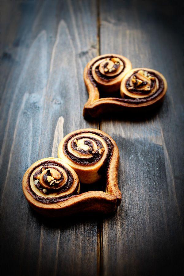 Hefeteig Nutella Herzen