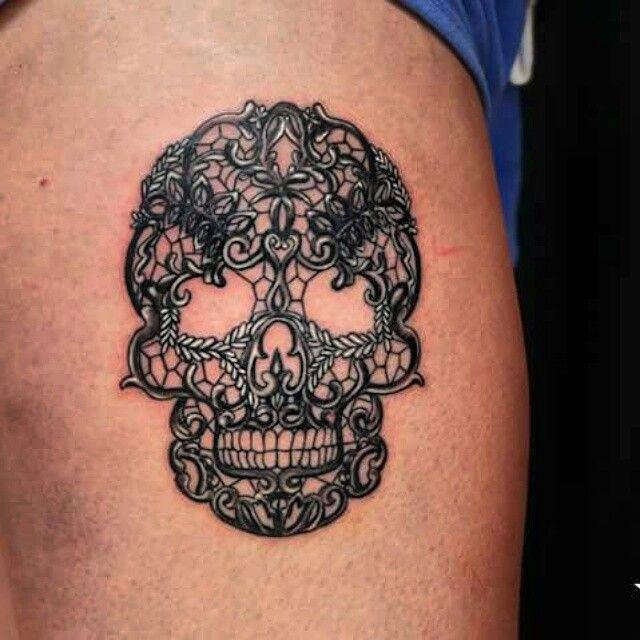 Lace Skull tattoo