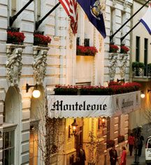 Hotel Monteleone, oldest family owned hotel in Quarter. Alcohol bonus- revolving bar. Across the street at Gumbo Shop is $2.50 Bloody Mary's with awesome red beans &gumbo.