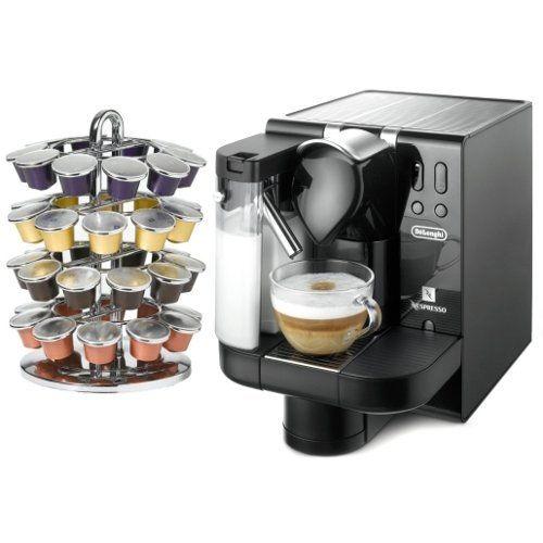 DeLonghi Black Lattissima Nespresso Capsule Espresso and Cappucino Machine Lattissima with FREE Nifty 40 Carousel by Delonghi. $499.99