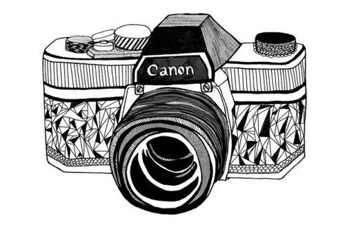 Dessin appareil photo vintage
