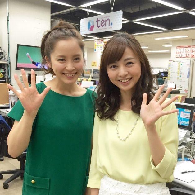 武田訓佳と中谷しのぶアナ (JPEG 画像, 628x626 px)