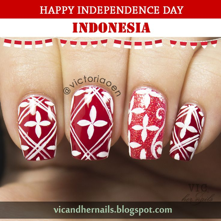 Vic and Her Nails: Happy Independence Day Indonesia!!