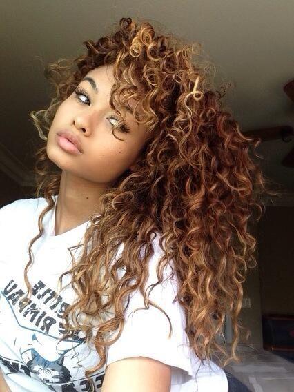 15 Must See Brown Curly Hair Pins Brown Beach Hair Big